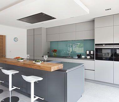 Contempoary Grey Kitchen Belfast Northern Ireland Open Plan Kitchen Living Room Handleless Kitchen Living Room Kitchen