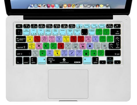 Adobe Illustrator AI Shortcuts Keyboard Skin Cover For Macbook Pro Air 13 15 17