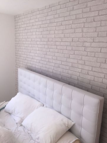 45 Beautiful Bedroom Wallpaper Decorating Ideas For Your Dream Room White Brick Wallpaper Bedroom Brick Wallpaper Bedroom