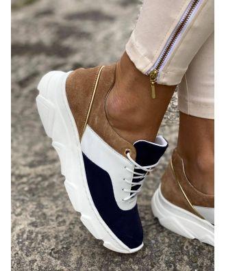 Sportowe Buty Rusin Free Navy White Skora Naturalna Polska Produkcja Vans Authentic Sneaker Sneakers Vans Sneaker