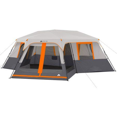 Ozark Trail 12 Person 3 Room Instant Cabin Tent With Screen Room Walmart Com Cabin Tent Best Tents For Camping Cabin Camping