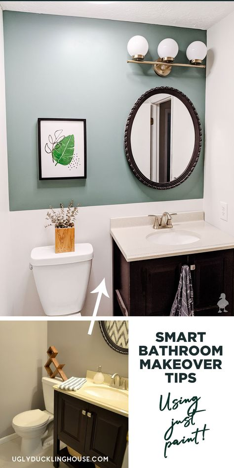 The magic of paint! Use these smart tips for getting the best paint job possible, the perfect white paint color, and take a look at the Clark+Kensington 2020 Color Trends in a real bathroom. #ad #AcePartner #thehelpfulplace #clarkandkensington #mylocalAce