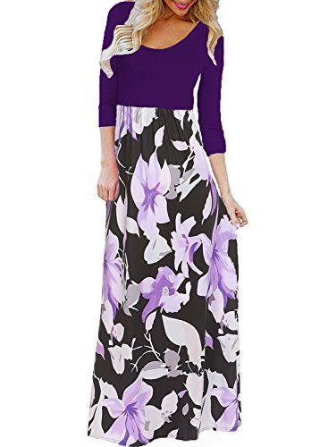 Women/'s Casual Sleeveless Maxi Dress V-neck Flower Peacock Print Tank Long Dress