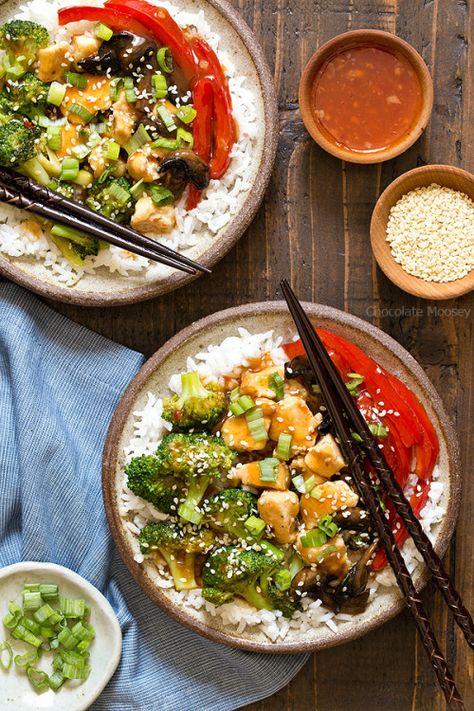 General Tsos Sweet Chili Chicken Rice BowlsReally nice recipes.  Mein Blog: Alles rund um die Themen Genuss & Geschmack  Kochen Backen Braten Vorspeisen Hauptgerichte und Desserts # Hashtag