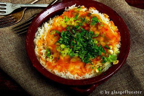 scharfer gebackener Reis