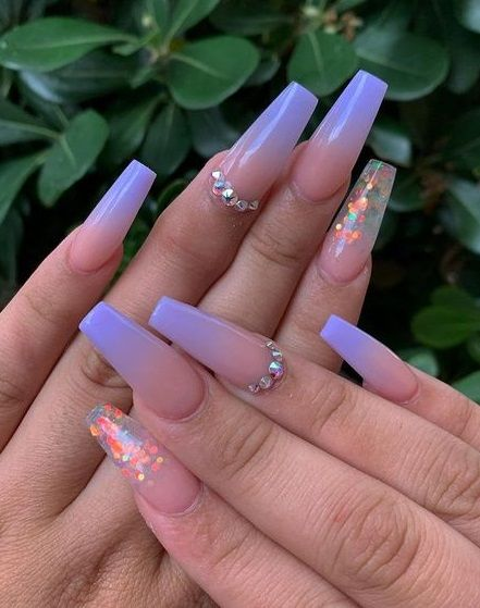 Awesome New Year Best Ombre Nail Ideas For 2020 In 2020 Purple Ombre Nails Best Acrylic Nails Coffin Nails Designs