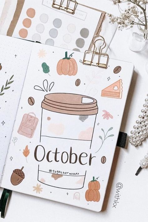 Best Bullet Journal Monthly Cover Ideas For October - Crazy Laura If you're looking for some new October monthly cover ideas to try in your bullet journal, then you need to check out these super fun and spooky spreads! Bullet Journal Cover Ideas, Bullet Journal Month, Bullet Journal Banner, Bullet Journal Writing, Bullet Journal Aesthetic, Bullet Journal School, Bullet Journal Ideas Pages, Bullet Journal Layout, Journal Covers