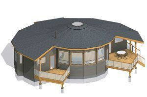 Round House Plans Circular Floor Plans Prefab Kits Energy Star Prefabbuilding Round House Plans Round House Octagon House