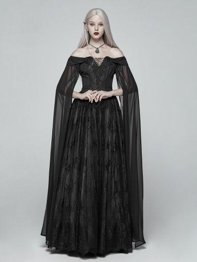 Women Medieval Renaissance Dress Gothic Lace Up Collect Waist Long Gown Dress