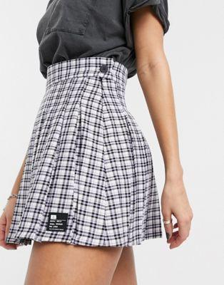 Bershka Checked Pleated Mini Skirt In Mauve Asos In 2020 Mini Skirts Pleated Mini Skirt Mini Skirt Style