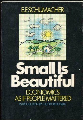 E F Schumacher Small Is Beautiful Socialism Beautiful Book Cover