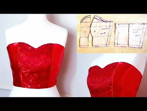 In this video, You'll learn how to modify your basic bodice pattern to create a tube top or .