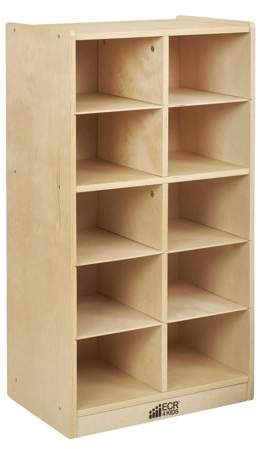 Birch 10 Cubby Tray Cabinet Walmart Com In 2020 Rolling Storage Clear Bins Storage Cabinets