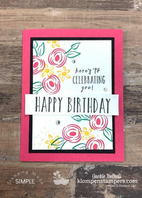 A Quick Handmade Birthday Card That Will Be Your Go To Birthday Cards Diy Simple Birthday Cards Handmade Birthday Cards