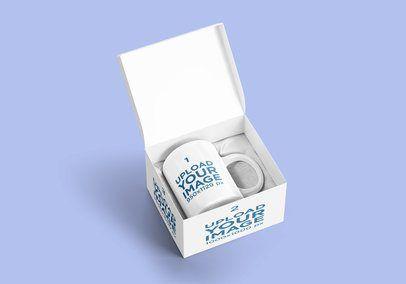 Download Placeit Mockup Of A Coffee Mug On A Customizable Box Coffee Mugs Mugs Mockup
