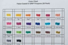 Faber Castell Grip Finepens Color Chart Color Chart Sharpie Colors Faber Castell