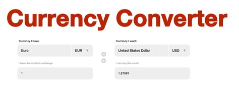 Interactive Currency Converter