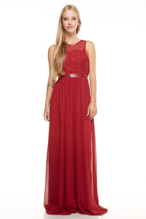 12f20a4cf21 Bariano floor length chiffon bridesmaid dress evening gown in Navy and  Burgundy