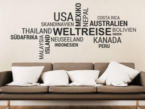 Popular Weltreise Wortwolke