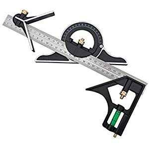 Stainless Steel Speed Square T Square Ruler Adjustable Sliding Combination Square Square Ruler Protractor Level Measure Speed Square Measuring Sets Protractor