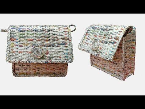 15 fantastiche immagini su borse fatte con cannucce di carta