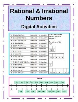 Identifying Rational and Irrational Numbers - 3 DIGITAL