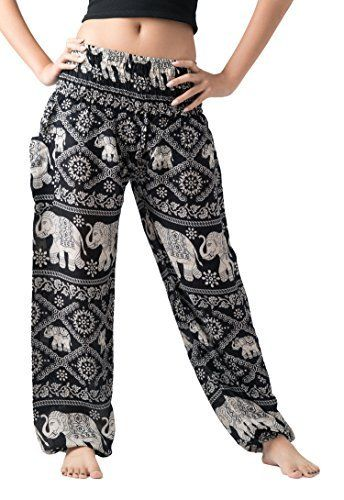 Bangkokpants Women S Harem Pants Bohemian Clothes Boho Yoga Hippie Pants Smocked Waist Bohemian Clothes Boho Outfits Harem Pants Women