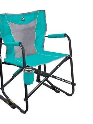 Gci Outdoor Freestyle Rocker Mesh Chair Seafoam Ebay Mesh Chair Outdoor Folding Rocking Chair