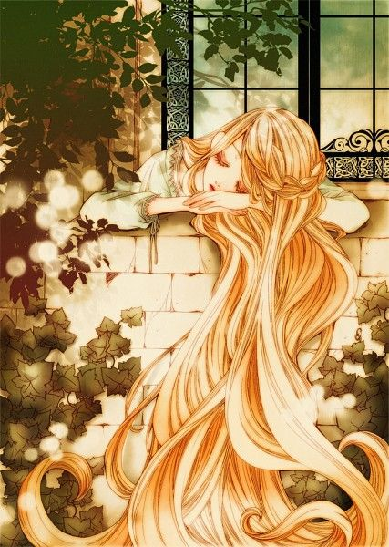This almost seems like me, when my hair is long. It reminds me of myself but I am a lot less peaceful when I sleep.