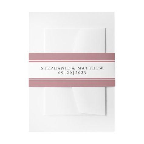 Elegant Dusty Rose Border Wedding Suite #elegantwedding #dustyrose #frame #elegant #chicwedding #calligraphy #typography #simple #borders #mailing