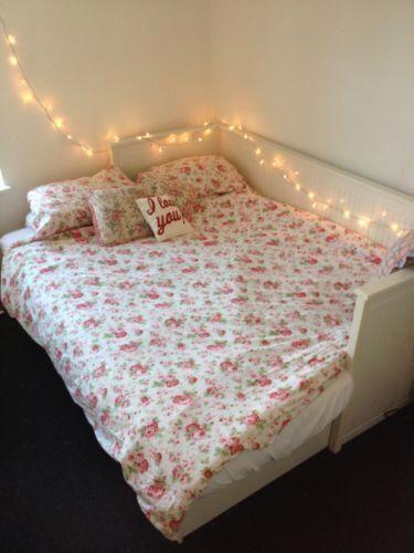 ikea hemnes day bed in white 2 matresses sofa single double storage ebay bedroomideasformen bedroom design diy purple dorm decor