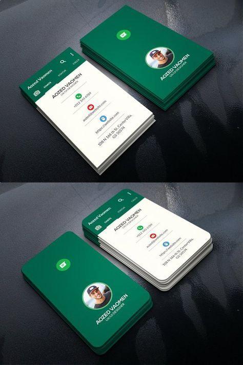 Whatsapp Business Card Whatsapp Social Graphic Design Business Card Business Cards Creative Marketing Business Card