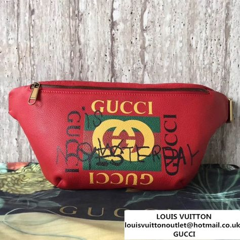 fda97e5bc47 Gucci Leather Coco Capitan Vintage Logo Belt Bag 493869 Red 2017  (SLP-7081736 )