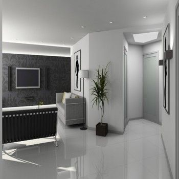 Carrelage Blanc Brillant Grand Format Led Lights Living Spaces