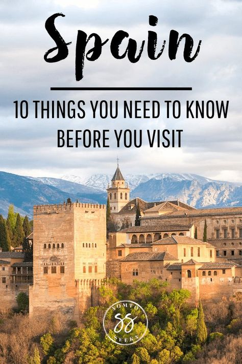 Are you traveling to Spain for the first time? Here are 10 things to know before visiting Spain. This travel guide for first timer visitors who want to learn some travel tips to make their visit stress-free and unforgettable. You'll find out about basic Spanish words, Spanish culture, siesta, the festivals, and more. Read these Spain travel tips before you visit! $spain #traveltips #spaintravel