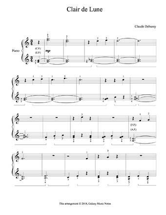Clair De Lune Level 2 Piano Sheet Music With Images Piano