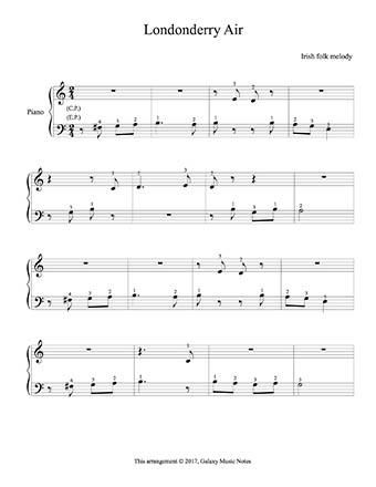 Londonderry Air Level 1 Piano Sheet Music With Images Sheet