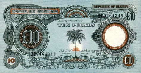 Pounds To Naira Black Market >> The Bank Notes Of Biafra Places To Visit Notes Exchange