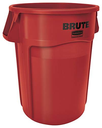 Rubbermaid Commercial Products Fg265500red Brute Heavy Du Https Www Amazon Com Dp B005kdb52o Ref Cm S Rubbermaid Commercial Products Trash Can Garbage Can