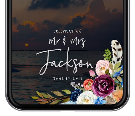 Flower Wedding Day filter Just Married Snap Chat Filter Floral Snapchat Geofilter Marsala Wedding Snapchat Geofilter Instant Download