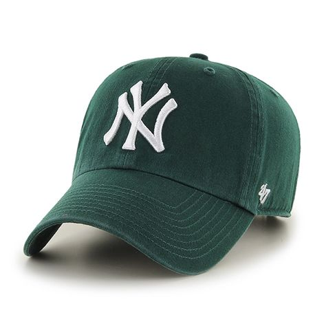 fd6e1a68cef New York Yankees Clean Up Dark Green 47 Brand Adjustable Hat