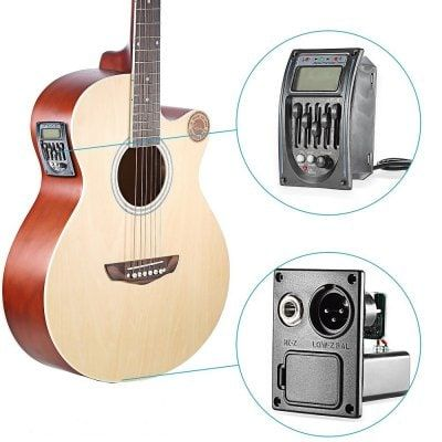 Guitar Driver Lc 5 5 Bands Acoustic Guitar Preamp Pickup Eq Preamp Lcd Tuner Piezo Pickup Toys Hobbies Musical Instruments G Guitar Tuners Guitar Acoustic