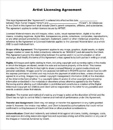 Music Licensing Contract Contract Template Record Label Labels