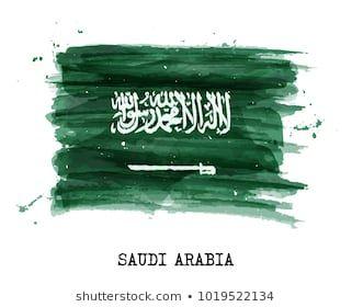Watercolor Painting Flag Saudi Arabia Vector Stock Vector Royalty Free 1019522134 In 2020 Saudi Arabia Flag Flag Drawing Watercolor Paintings