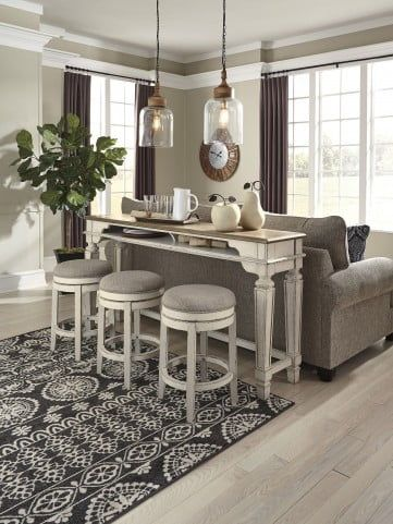 Realyn Two Tone Counter Height Dining Table In 2020 Counter