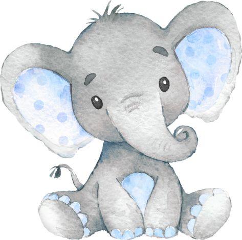 Blue Elephant Baby Boy Shower Sprinkle Birthday Square Paper Coaster | Zazzle.com