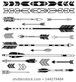 Indian Arrow Images Stock Photos Vectors Shutterstock In 2020 Native American Patterns How To Draw Hands Native American Symbols