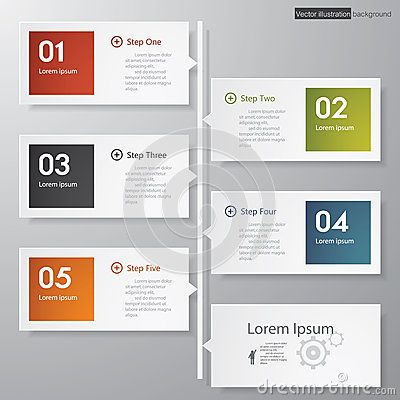 Design clean number banners template timeline Creative Designs - timeline website template