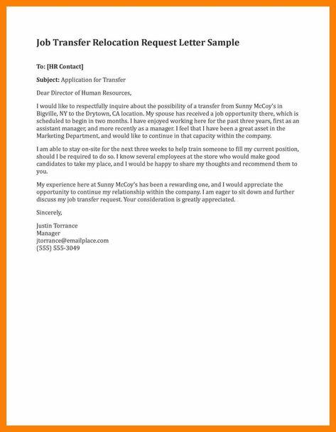 Download Best Of Sample Job Transfer Request Letter Lettersample