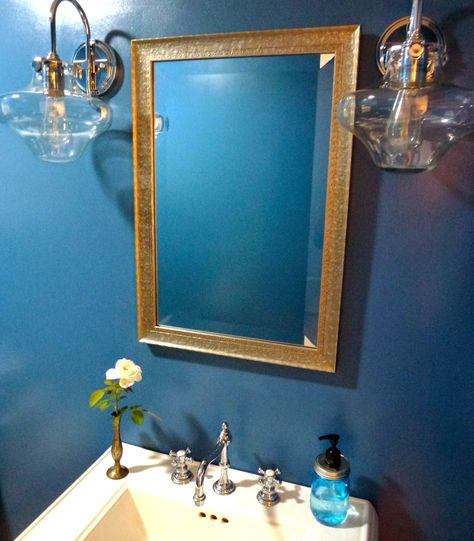 Santa Monica Blue By Benjamin Moore Powder Room